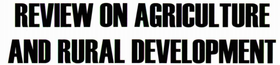 Review on Agriculture and Rural Development